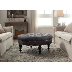 Strange Isabelle Charcoal Accent Ottoman Caraccident5 Cool Chair Designs And Ideas Caraccident5Info