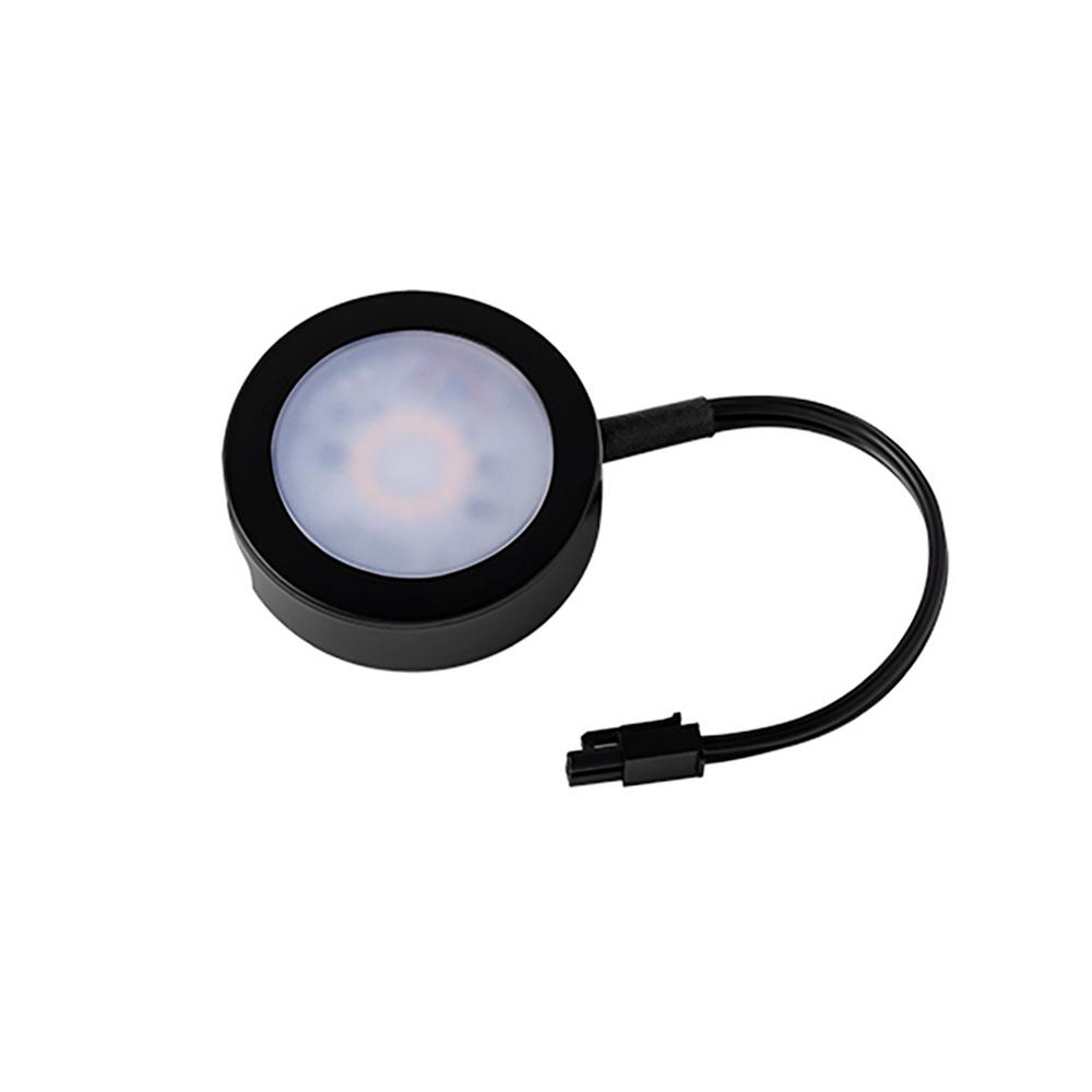 WAC Lighting 6 In. Single LED Black Puck Light With Single