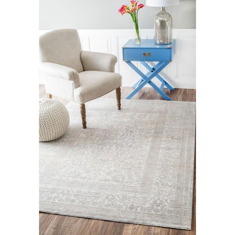 nuLOOM Siobhan Transitional Gray 9 ft