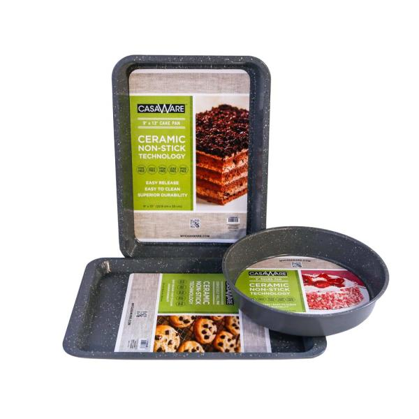Bakeware 3-Piece Set in Silver Granite