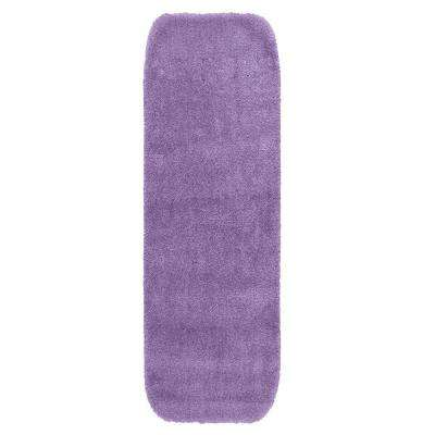 Traditional Purple 22 in. x 60 in. Washable Bathroom Accent Rug