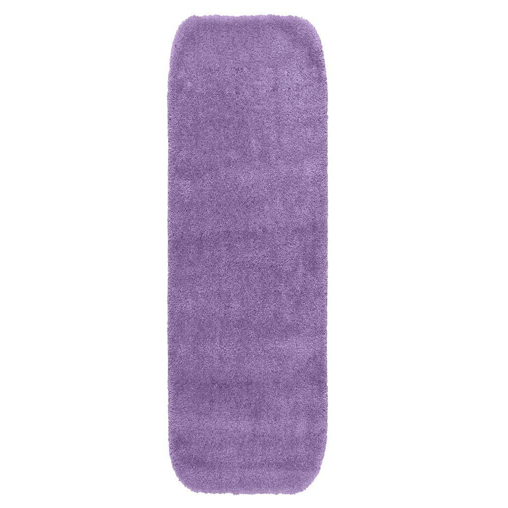Garland rug traditional purple 22 in x 60 in washable for Rugs with purple accents