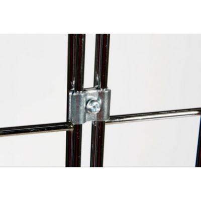 Grid Wall Joining Clips Connectors for Grid Panels - 50 Pcs - Chrome Color