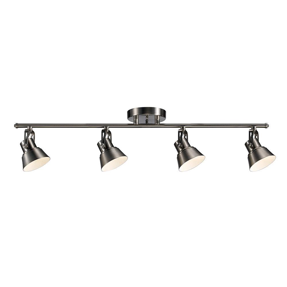 Led Track Lighting Brushed Nickel: Monteaux Lighting 33 In. Brushed Nickel Integrated LED
