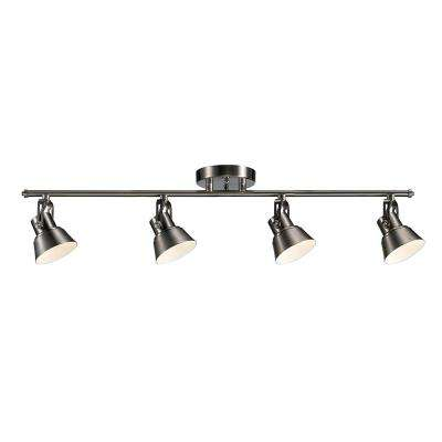 33 in. Brushed Nickel Integrated LED Track Lighting Kit