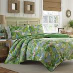 Aregada Dock 3-Piece Blue Floral Cotton King Quilt Set