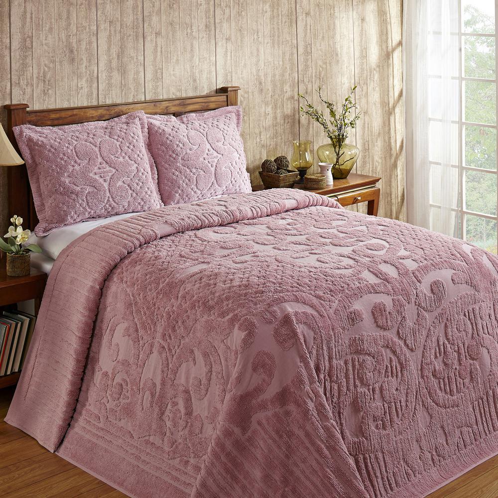 Ashton 120 in. X 110 in. King Pink Bedspread