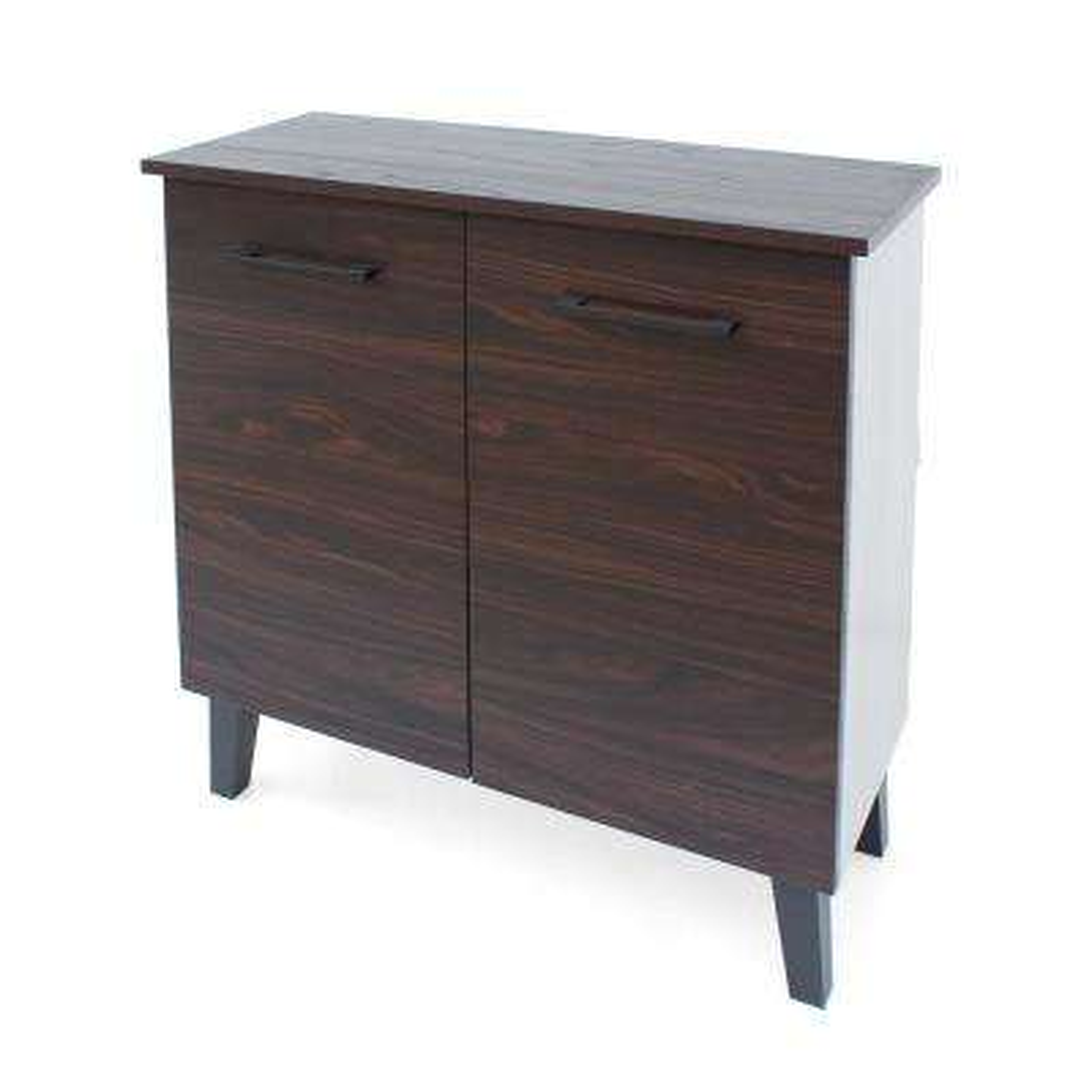 Walnut Brown 2-Door Cabinet with Sonoma Oak Interior