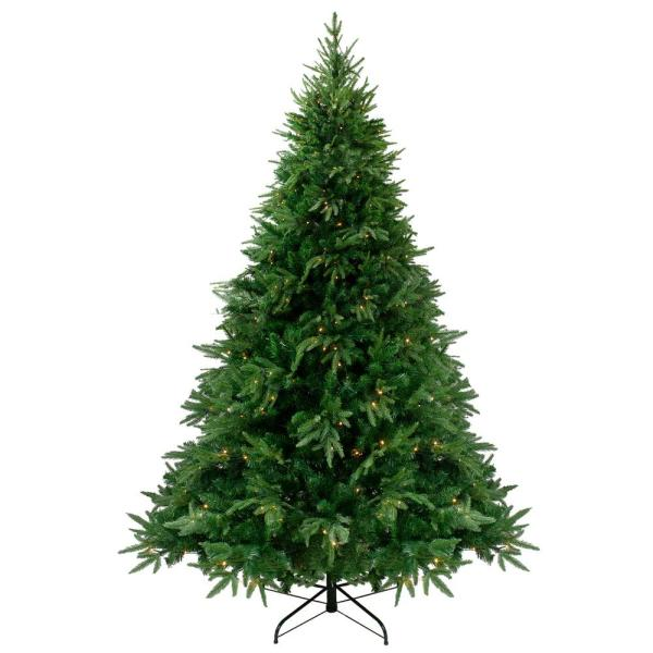 6.5 ft. Pre-Lit Silverthorne Fir Artificial Christmas Tree - Warm White LED Lights