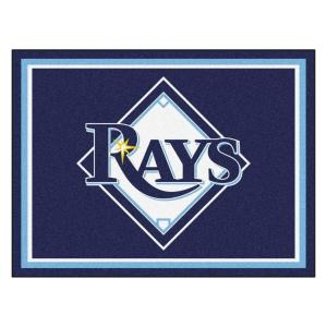 Fanmats Mlb Tampa Bay Rays Navy Blue 8 Ft X 10 Ft Indoor Area Rug 17437 The Home Depot