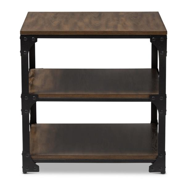 Baxton Studio Milo Brown End Table 163 10751 Hd The Home Depot