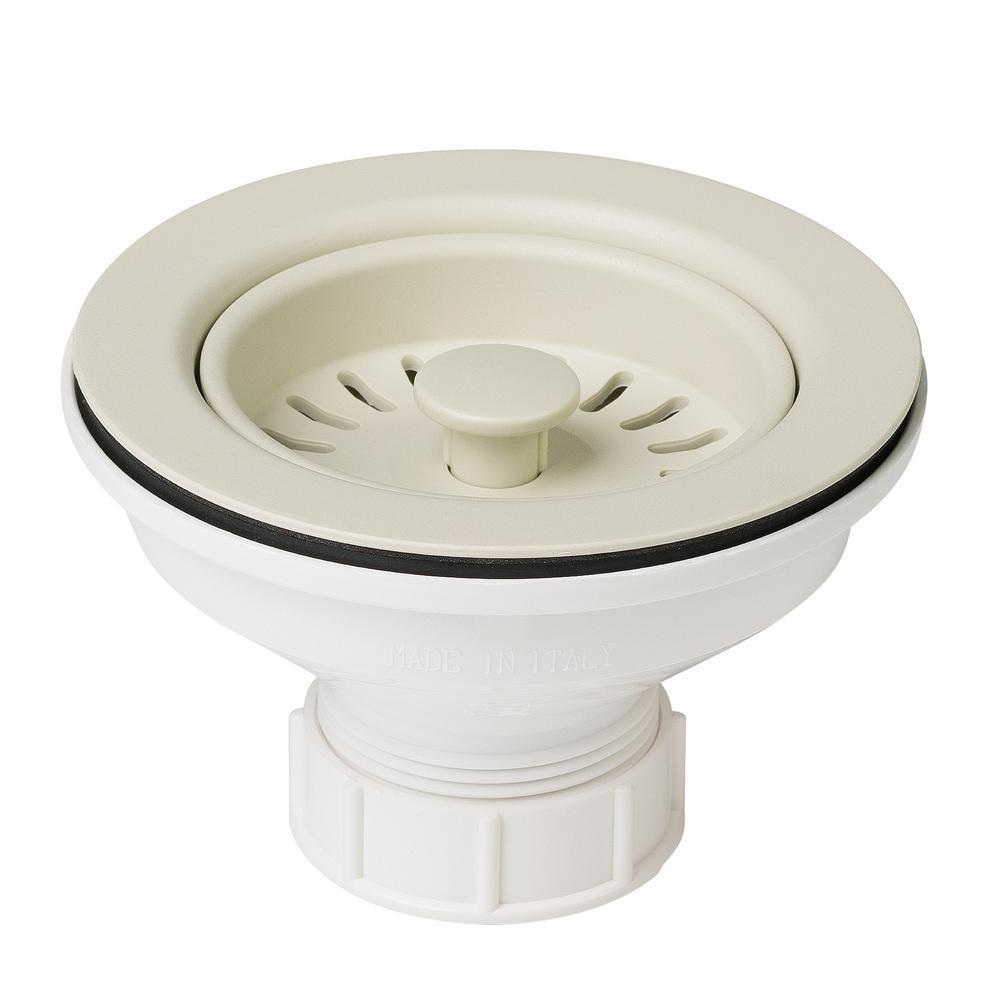 4-1/2 in. Kitchen Sink Strainer in Beige