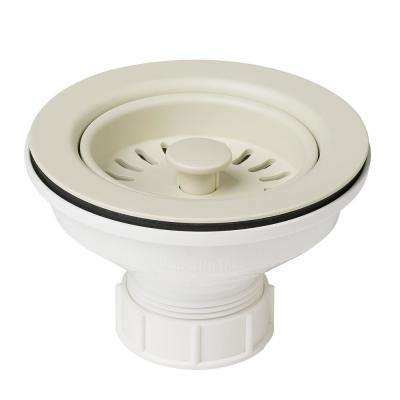 4-1/2 in. Kitchen Sink Strainer in Beige
