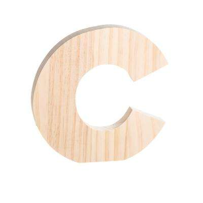 Alpha 8 in. Letter C in Unfinished Wood