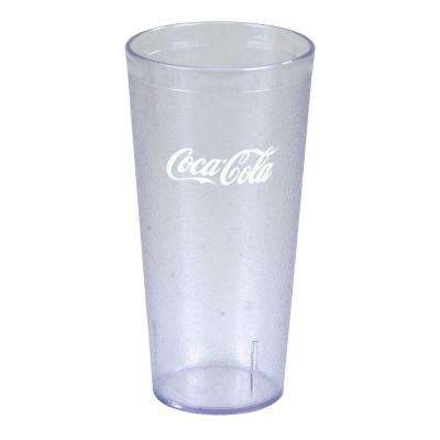 3.63 in. Diameter, 7.18 in. H, 24 oz. SAN Plastic Coca Cola Imprint Tumbler in Clear (Case of 72)