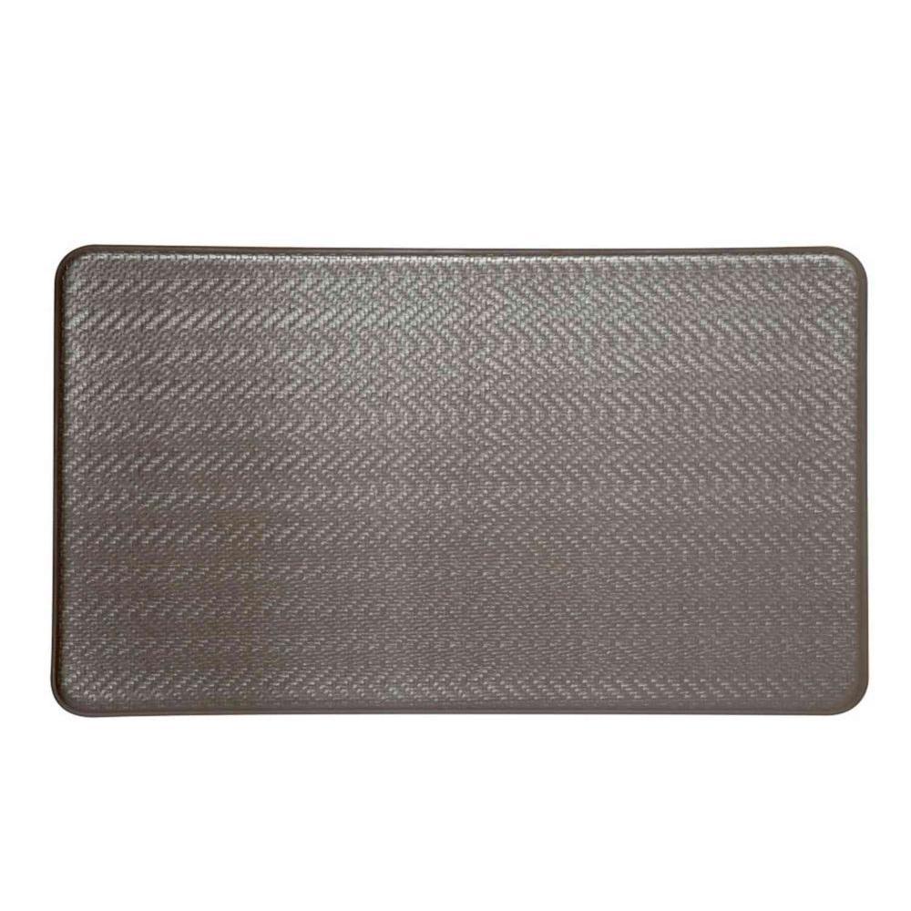 IMPRINT Comfort Mat Cobblestone Metallic Taupe 20 in. x 36 in. Anti Fatigue Comfort Mats-DISCONTINUED