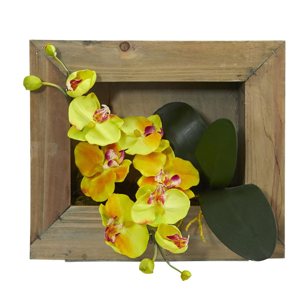 Nearly Natural Phalaenopsis Orchid Artificial Arrangement in Wooden ...
