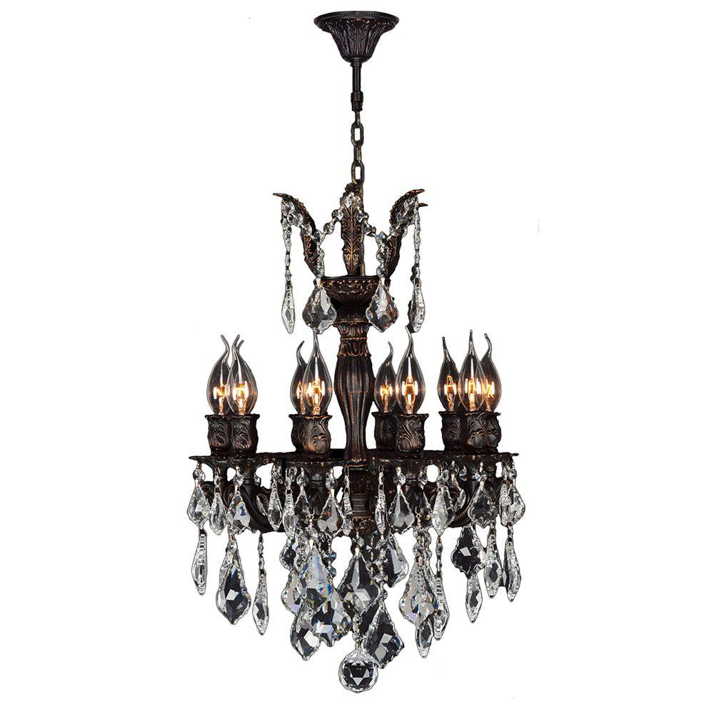 chandeliers for bedrooms acclaim lighting peyton indoor 6 light brass 11018