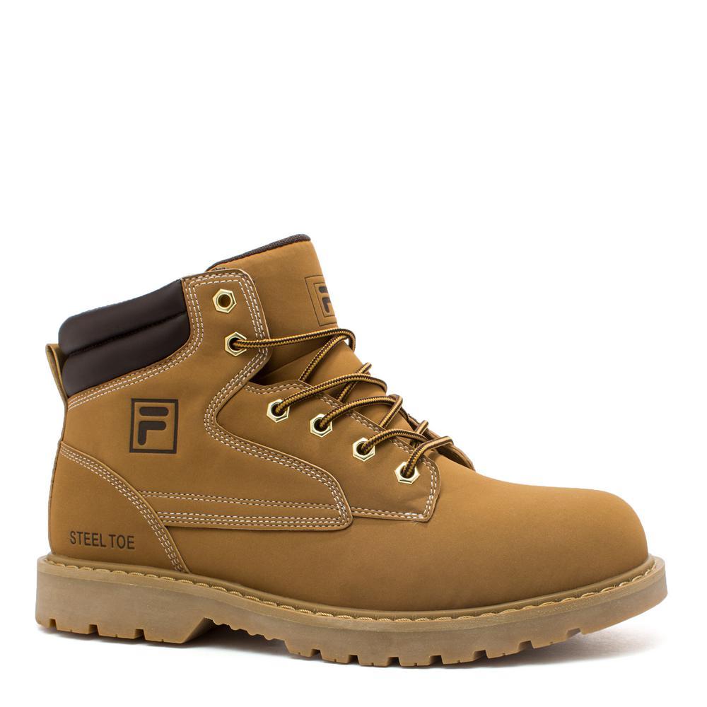 Landing Steel Men Size 11 Wheat/Espresso Synthetic Steel Toe Work Boot