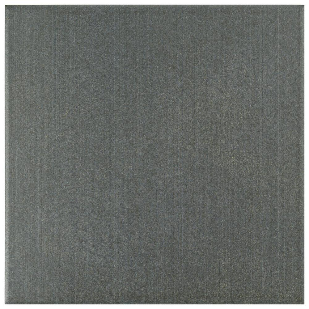 Merola Tile Twenties Black 7 34 In X 7 34 In Ceramic Floor And