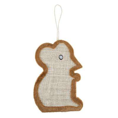 17.25 in. x 12 in. Sisal and Polyester Mouse Shaped Scratching Toy