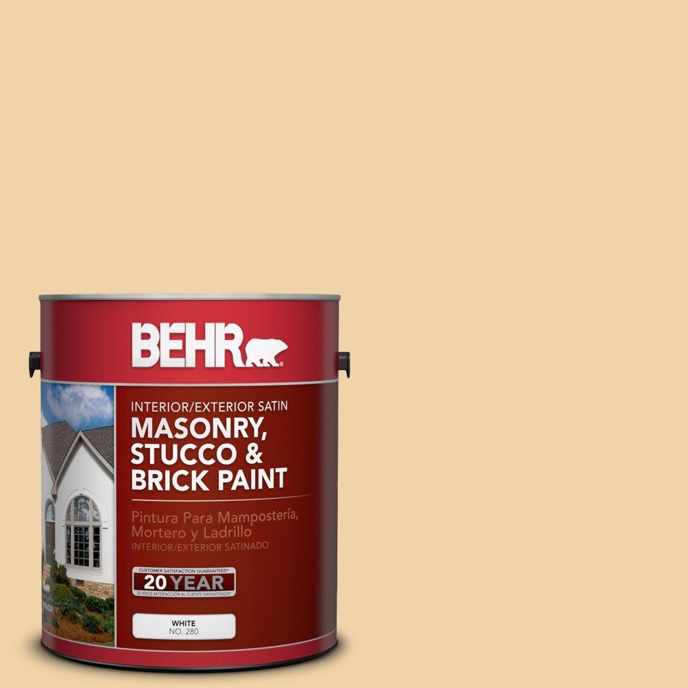1-gal. #MS-27 Sunshine Satin Interior/Exterior Masonry, Stucco and Brick Paint