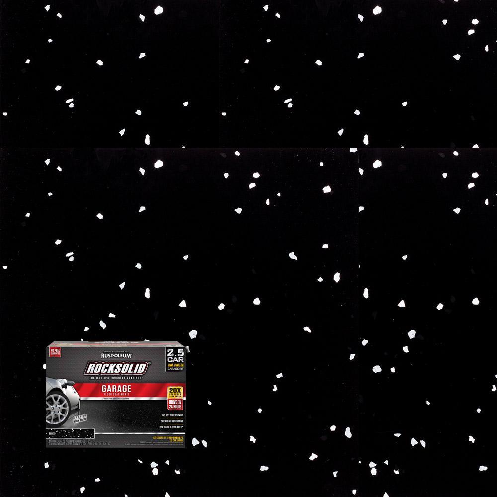 Rust oleum rocksolid 152 oz black polycuramine 2 5 car for 1 1 2 kit di garage per auto