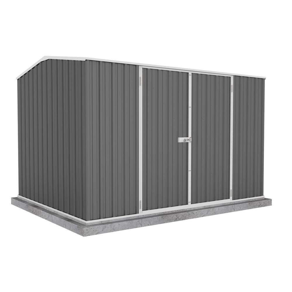 ABSCO Premier 10 ft. x 7 ft. Woodland Gray Metal Shed