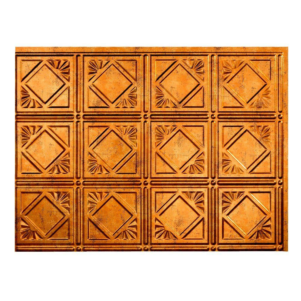 Traditional 4 18 in. x 24 in. Muted Gold Vinyl Decorative