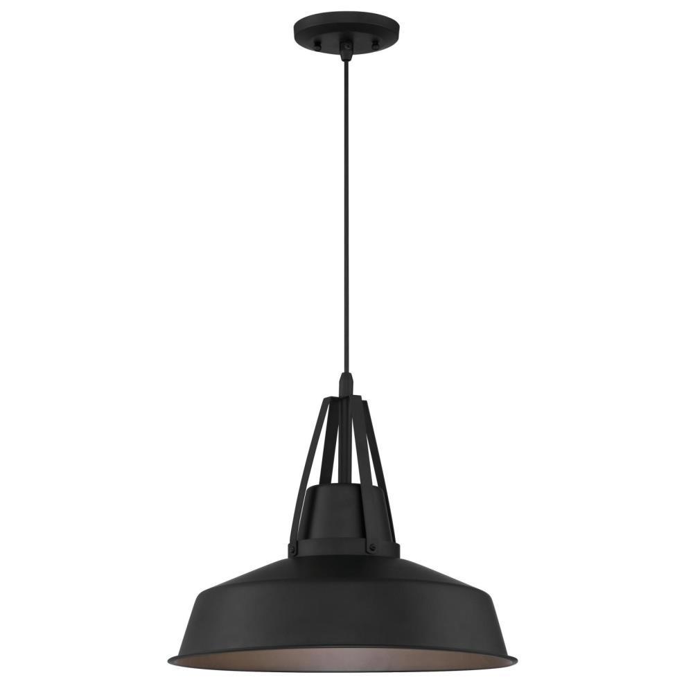 Armstrong Medium 1-Light Matte Black LED Outdoor Pendant Light, Dark Sky Friendly