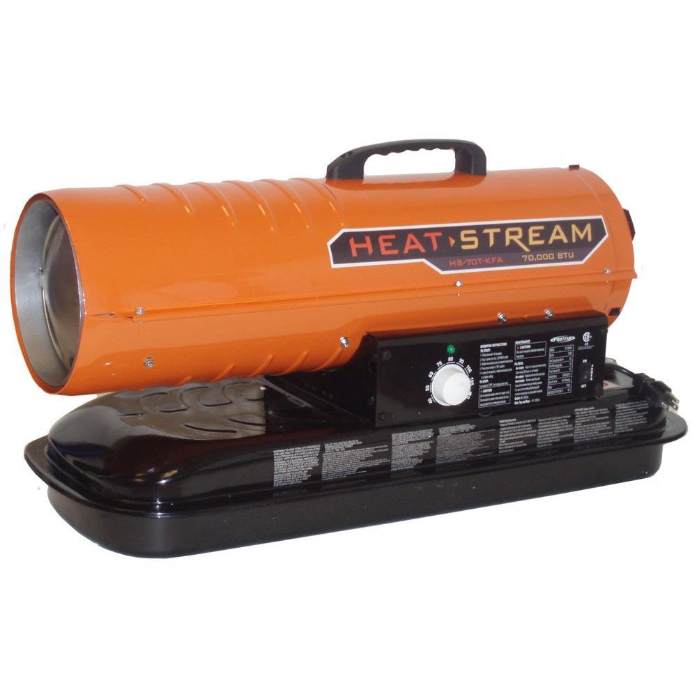 70,000 BTU Forced-Air Kerosene Heater