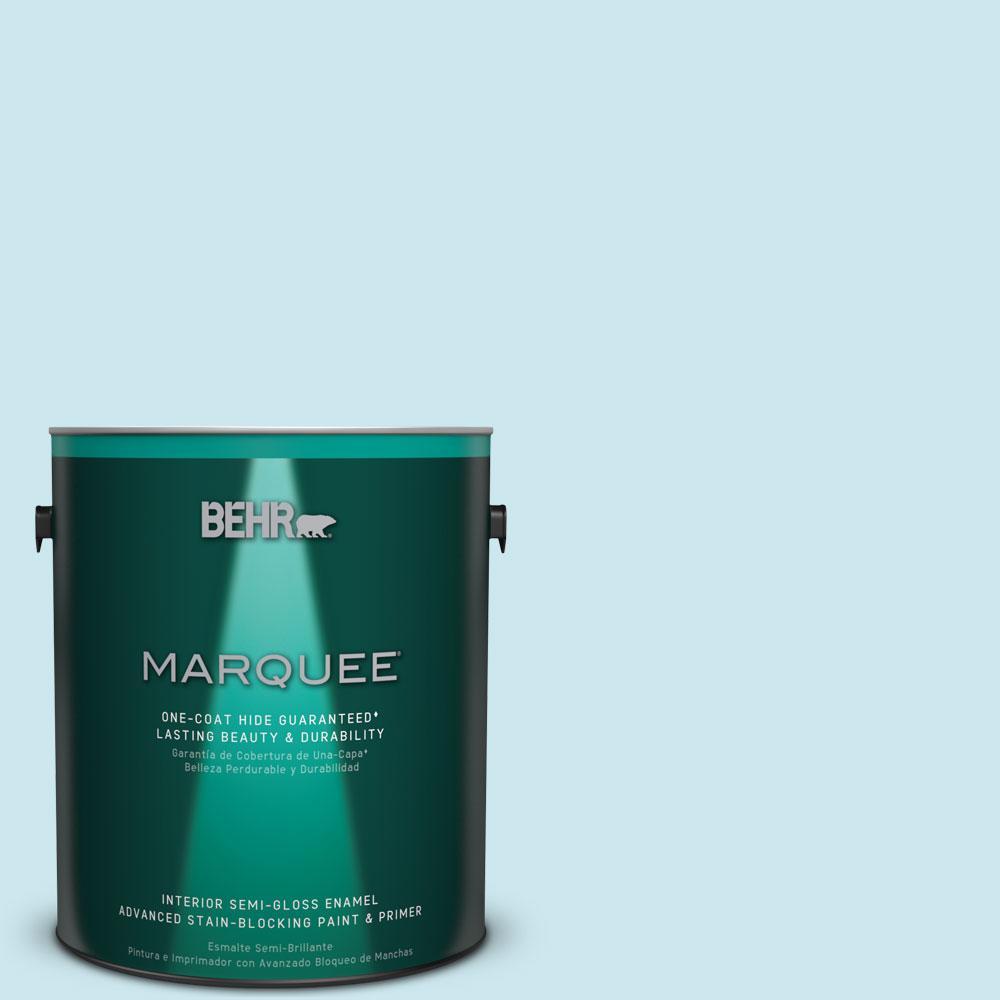 1 gal. #MQ3-52 Ethereal Mood Semi-Gloss Enamel One-Coat Hide Interior Paint