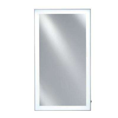 Illume 20 in. x 36 in. Framed LED Backlit Mirror with Polished Trim in Silver
