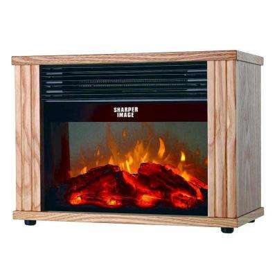 15.2 in. Brown Electronic Fireplace Heater