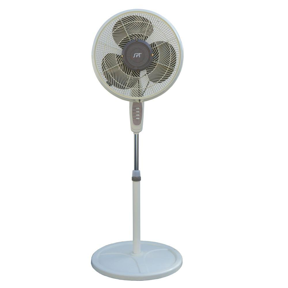 SPT 900 CFM 3-Speed 16 in. Outdoor Misting Fan for 100 sq...