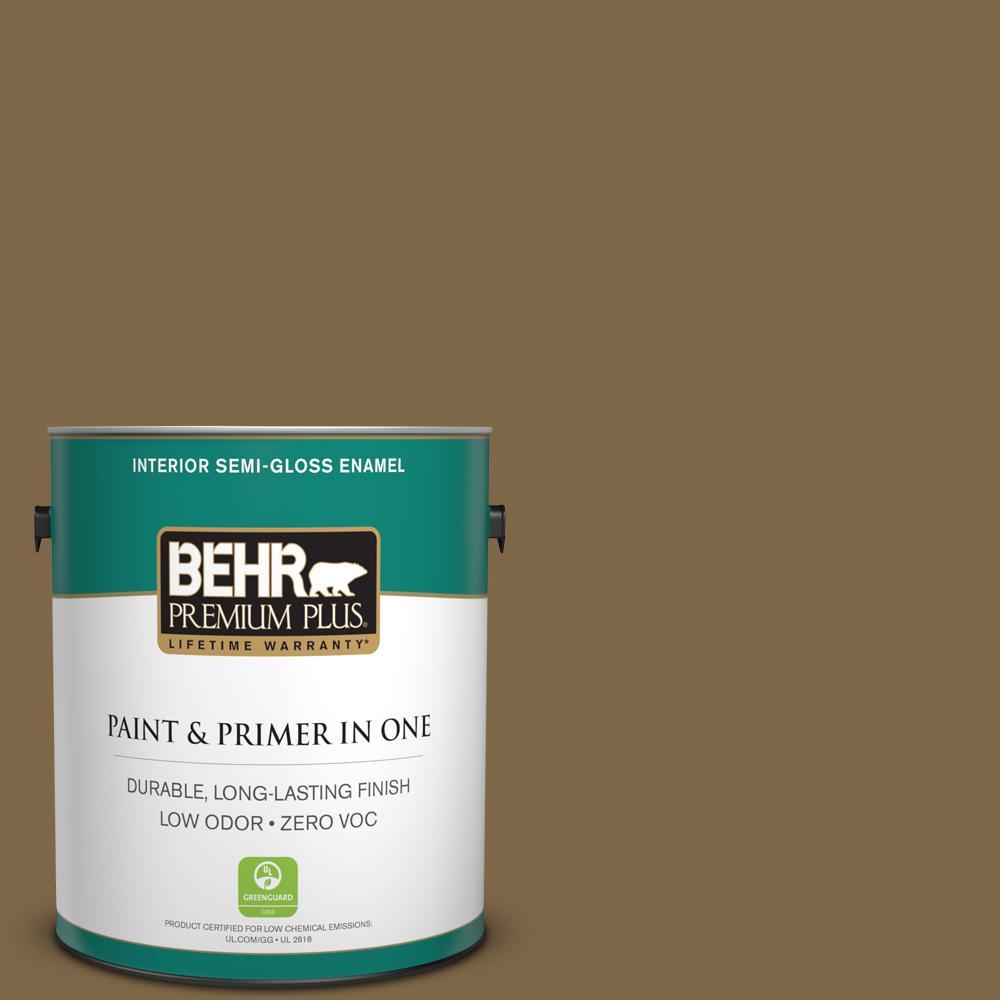 BEHR Premium Plus 1-gal. #320F-7 Fig Zero VOC Semi-Gloss Enamel Interior Paint