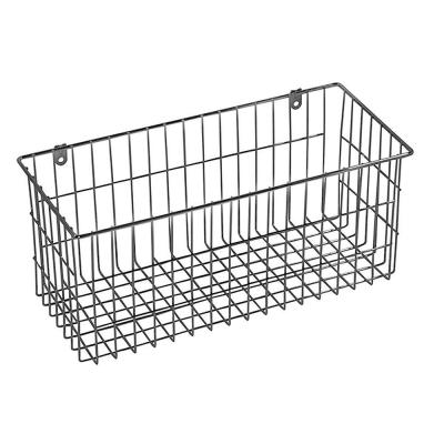 13.5 in. x 6 in. More Inside Large 4 Sided Wall Mount Wire Basket