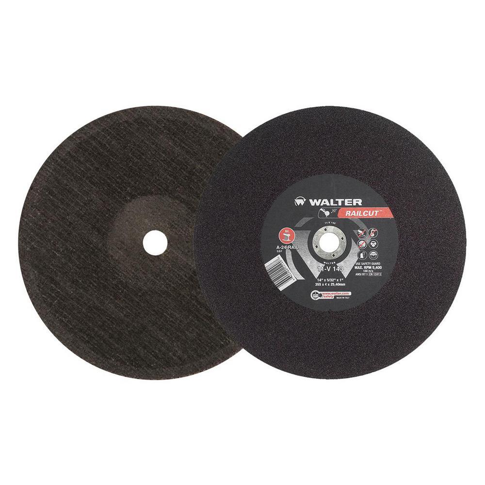 RAILCUT II Long Life 14 in. x 1 in. Arbor x 5/32 in. GR A24RAIL Rail Cutting Disc (10-Pack)