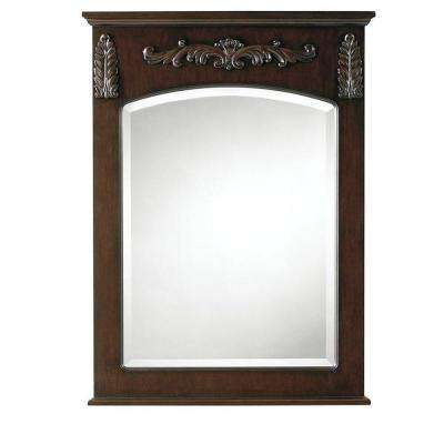 Chelsea 32 in. L x 22 in. W Wall Mirror in Antique Cherry