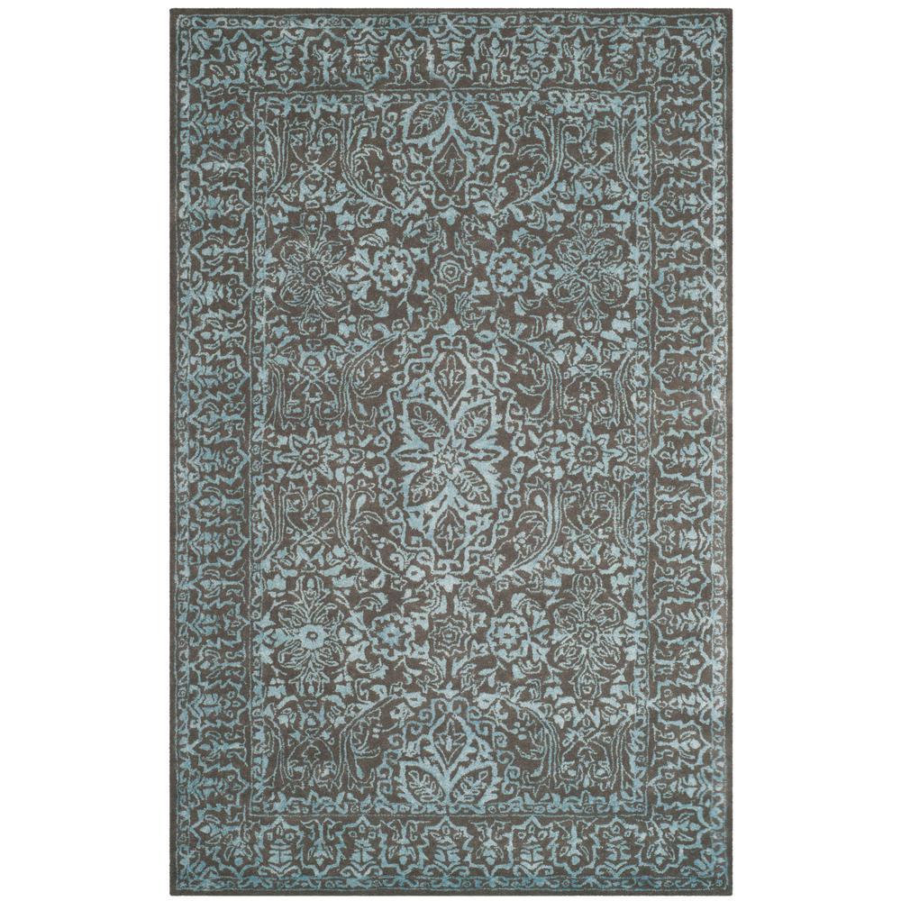 Safavieh Glamour Blue Dark Gray 8 Ft X 10 Area Rug