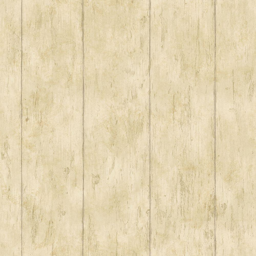 Reclaimed Cottage Gold Wood Wallpaper Sample