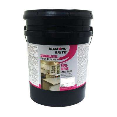 5 gal. High Hiding White Semi-Gloss Latex Interior Paint