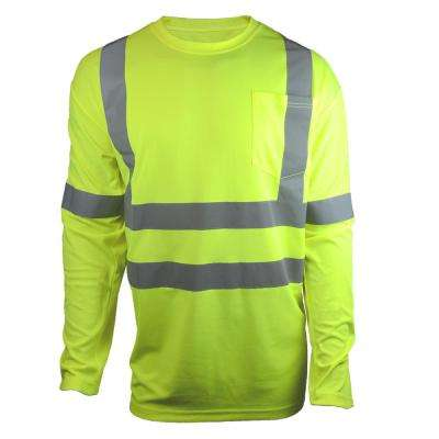 6225ce83a ANSI Class 3 Large Hi-Visibility Long Sleeve Shirt with Reflective Tape