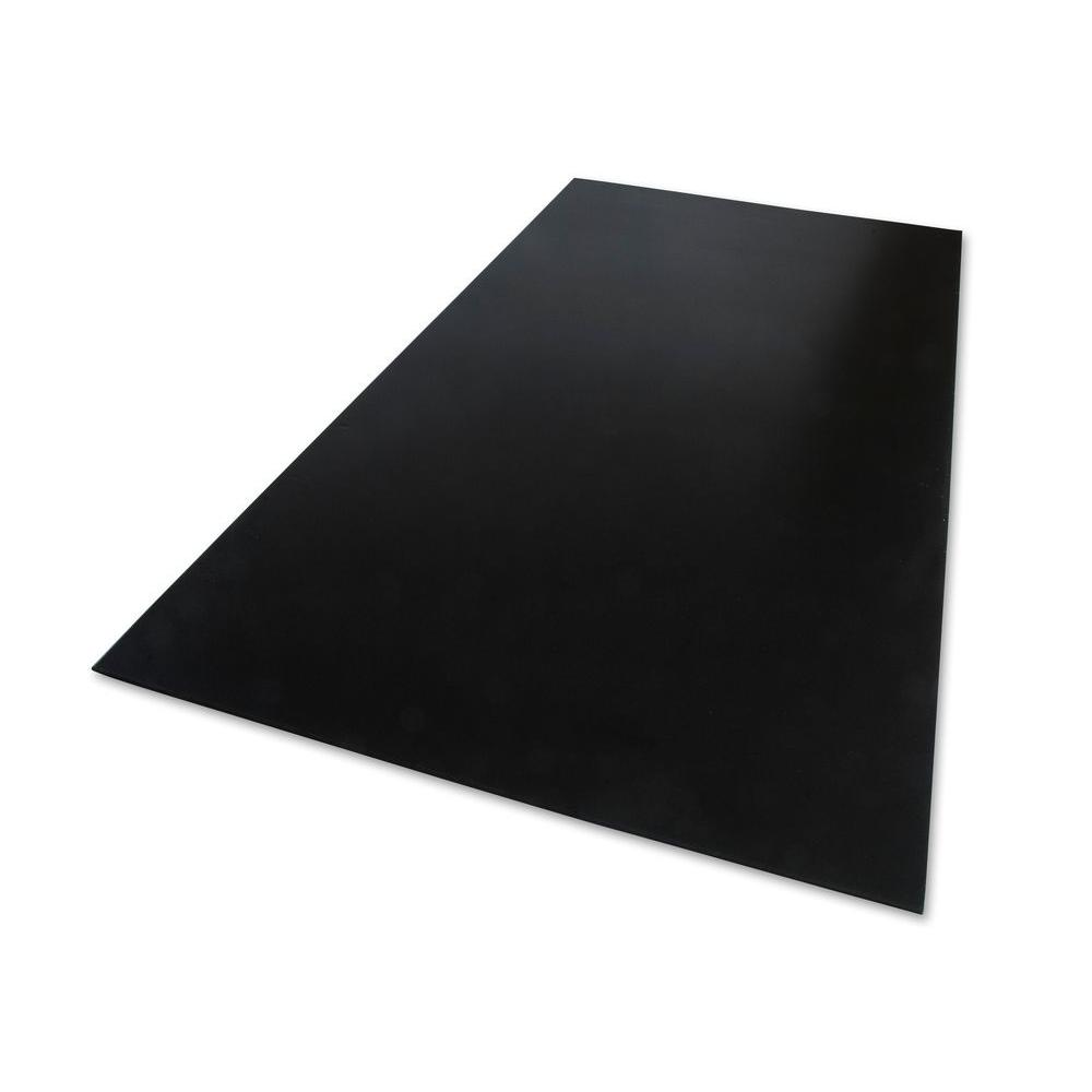 24 in. x 48 in. x 0.236 in. Foam PVC Black
