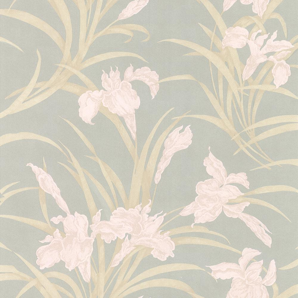 A street 56 4 sq ft fiji navy floral wallpaper 2744 - Floral wallpaper home depot ...