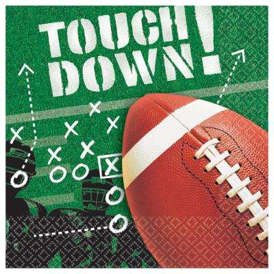 5 in. x 0.1 in. Football Frenzy Beverage Napkins