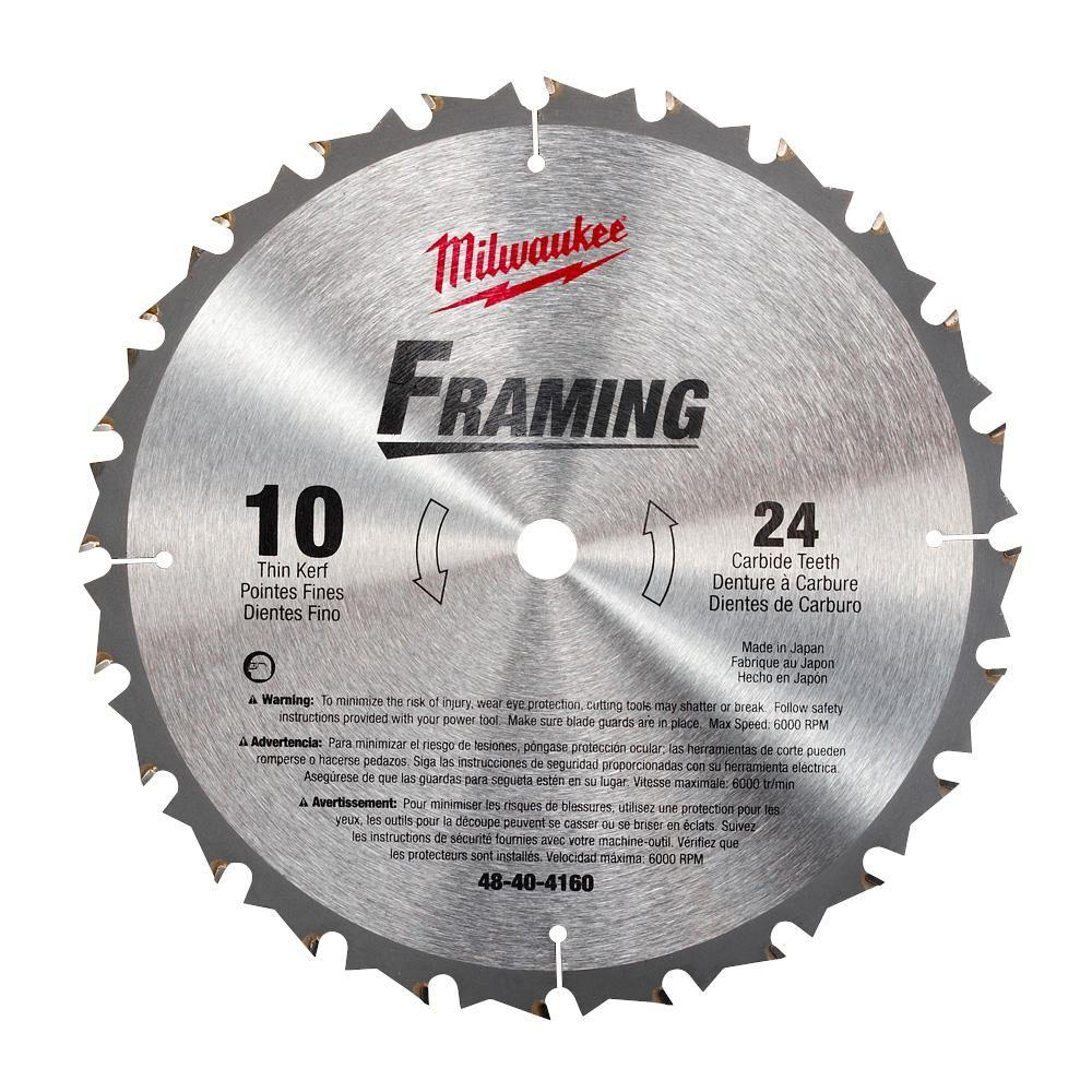 Milwaukee 10 in x 24 carbide tooth circular saw blade 48 40 4160 milwaukee 10 in x 24 carbide tooth circular saw blade greentooth Image collections