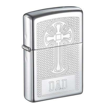 Zippo Religious Cross Design Father's Day Lighter