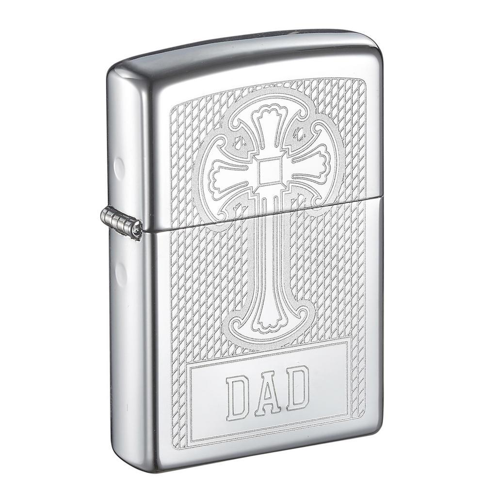 Zippo Religious Cross Design Father's Day Lighter