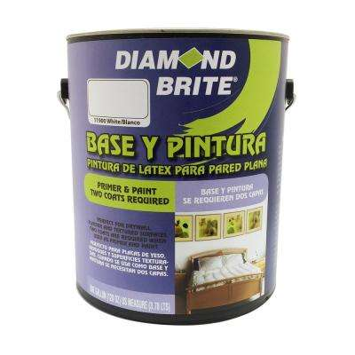 1 gal. White Flat Latex Interior Primer and Paint